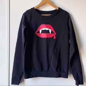 ModCloth Count Von Lips crew neck sweatshirt M